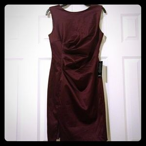 NWT The Limited Bordeaux Sheath, Size 6.
